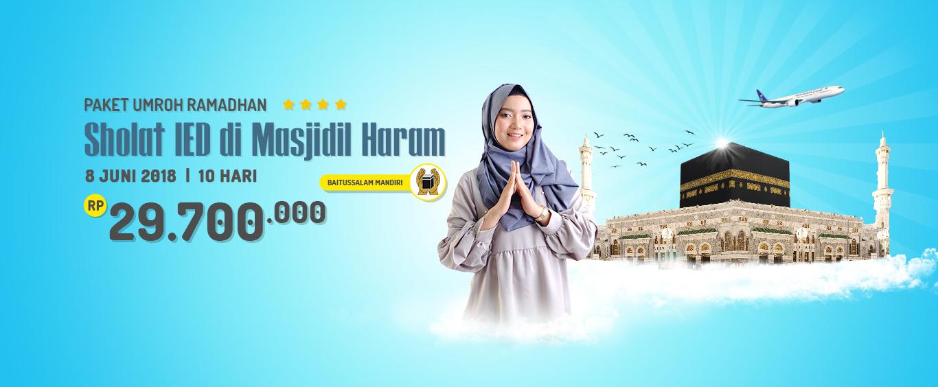 Paket Umroh Ramadhan Shalat Ied di Masjidil Haram