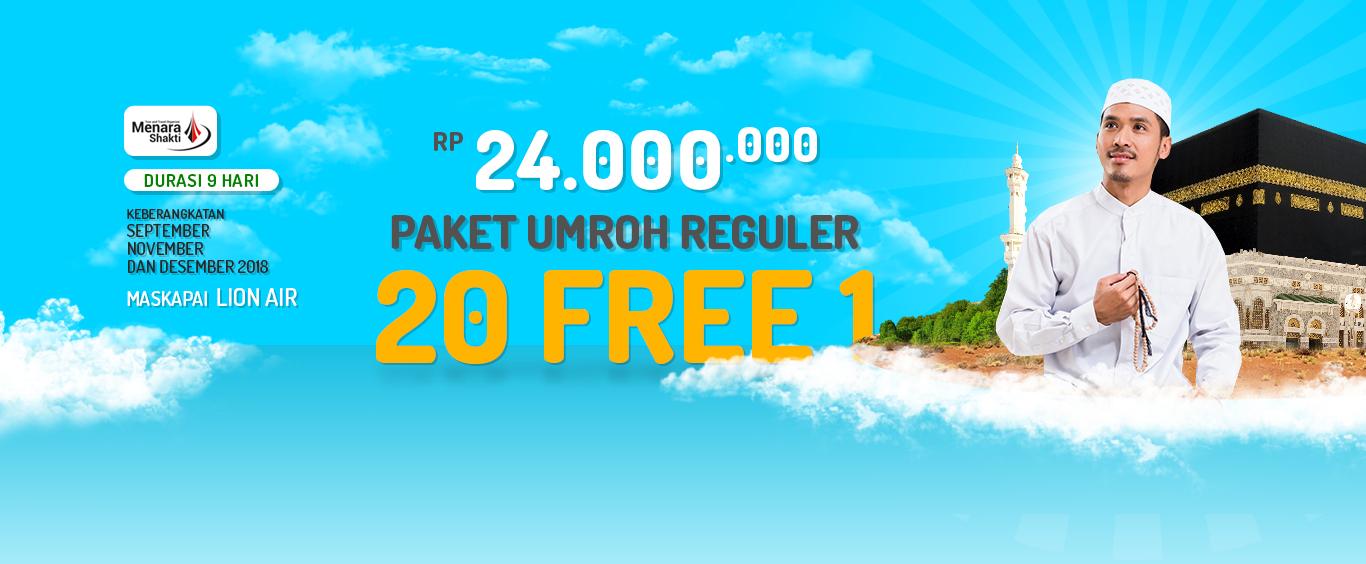 Paket Umroh Promo Reguler Free 1