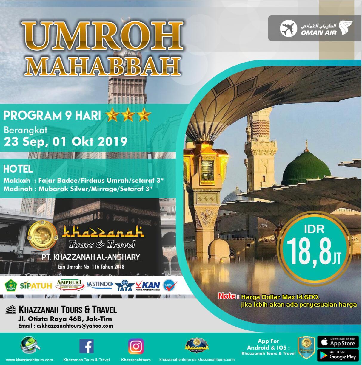 Umroh Mahabbah 9 Hari By WY