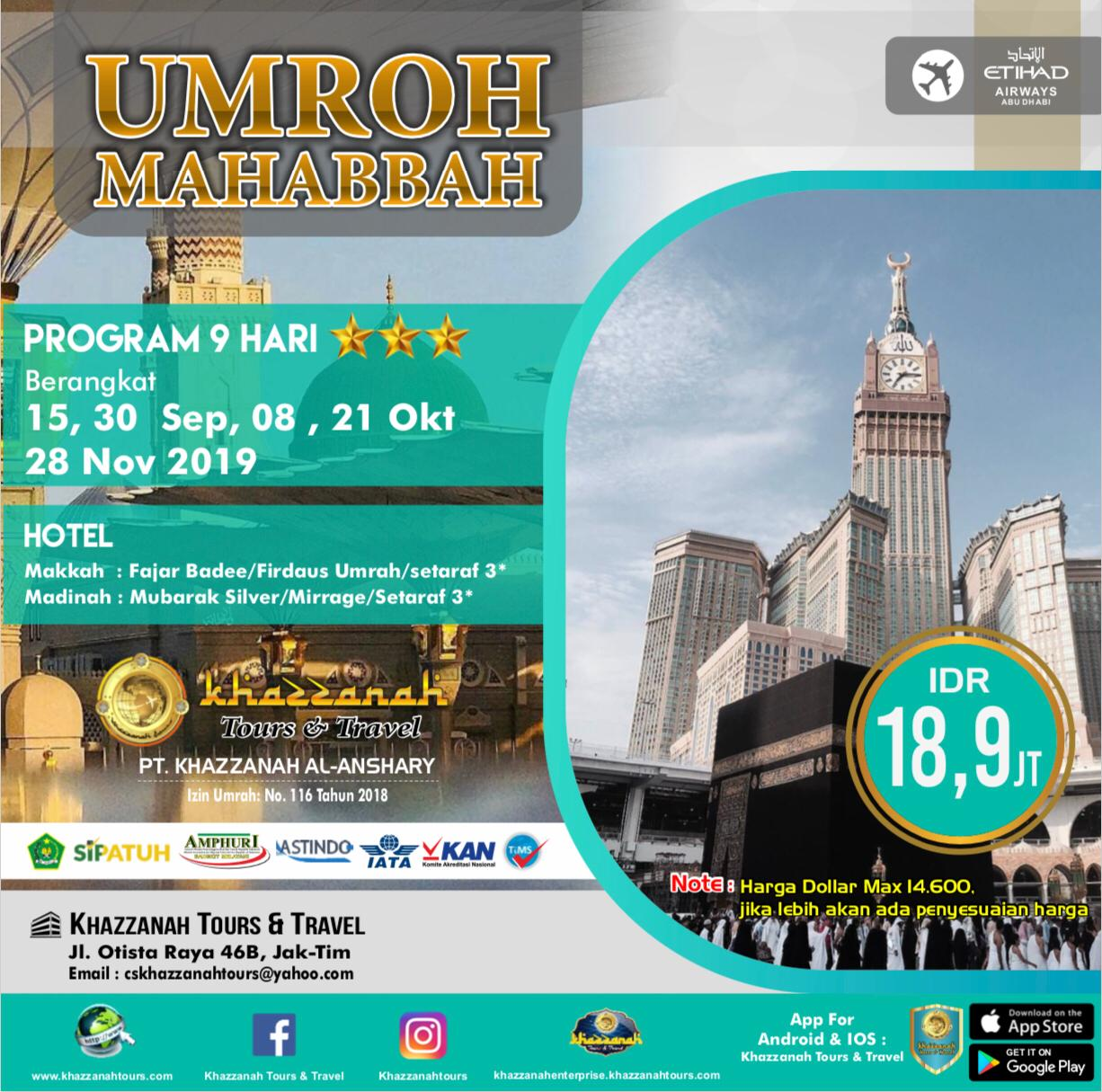 Umroh Mahabbah 9 Hari By EY
