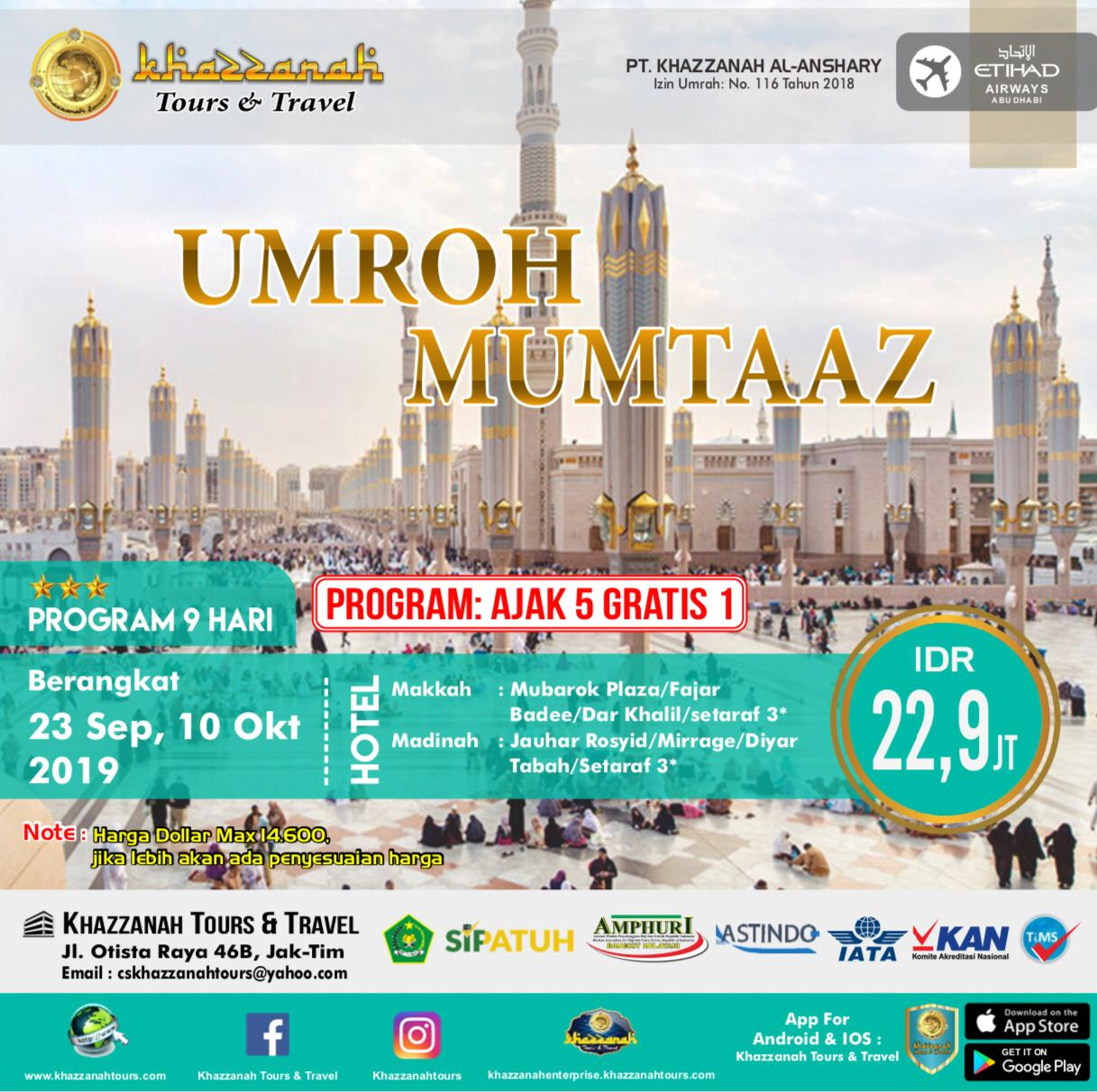 UMROH MUMTAAZ 5 FREE 1 By EY