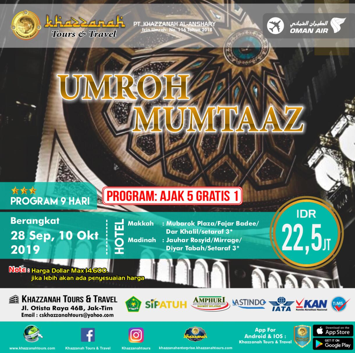 UMROH MUMTAAZ 5 FREE 1 By WY