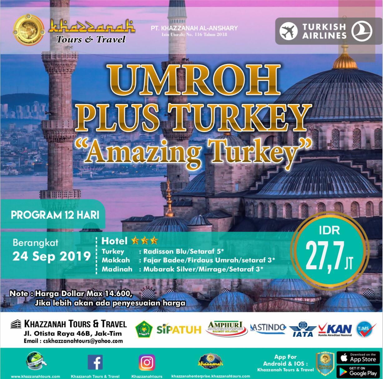 UMROH PLUS TURKIY  AMAZING TURKEY