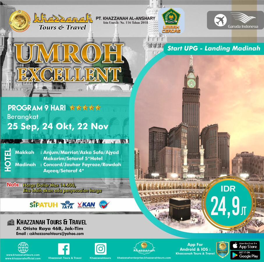 Umroh Excellent 12Hari By LION AIR  Starting Makasar