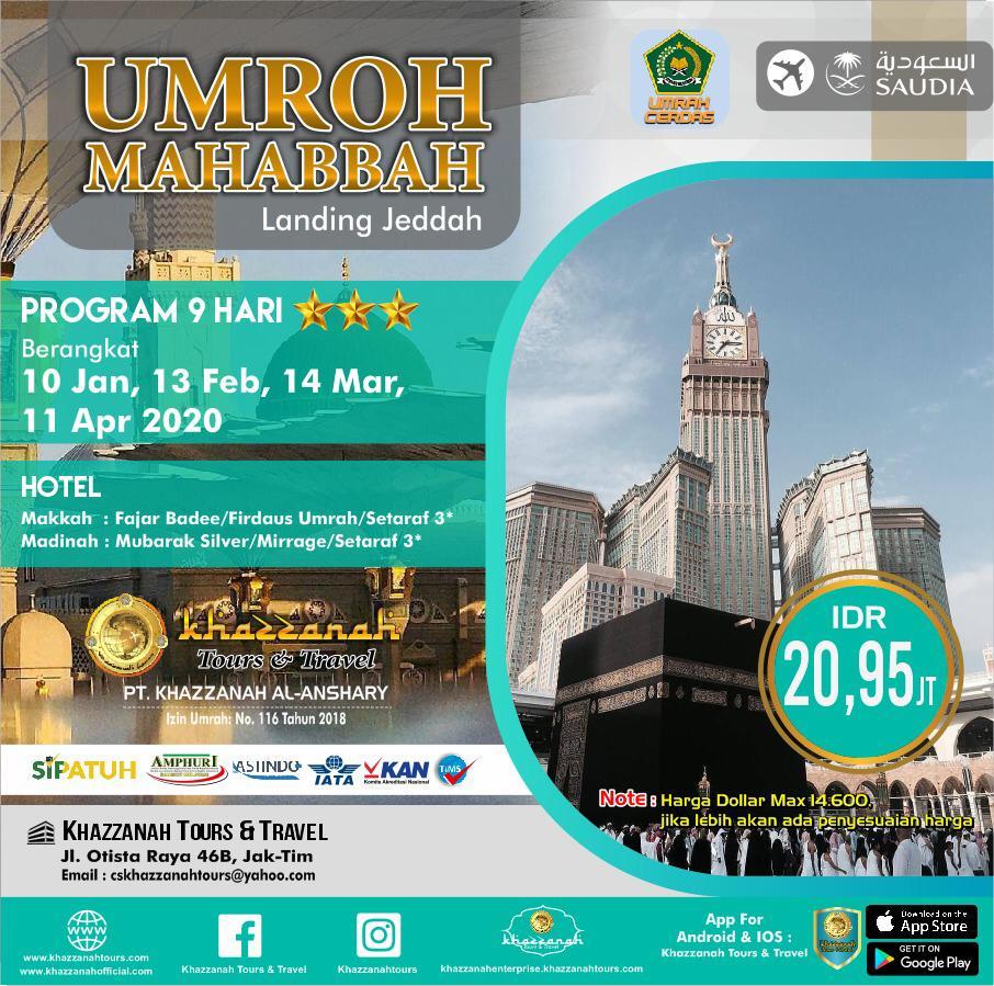 UMROH MAHABBAH 9H By  SAUDIA
