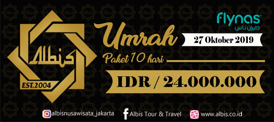 Umroh 10 Days by Flynas 27 Oct Albis Jakarta