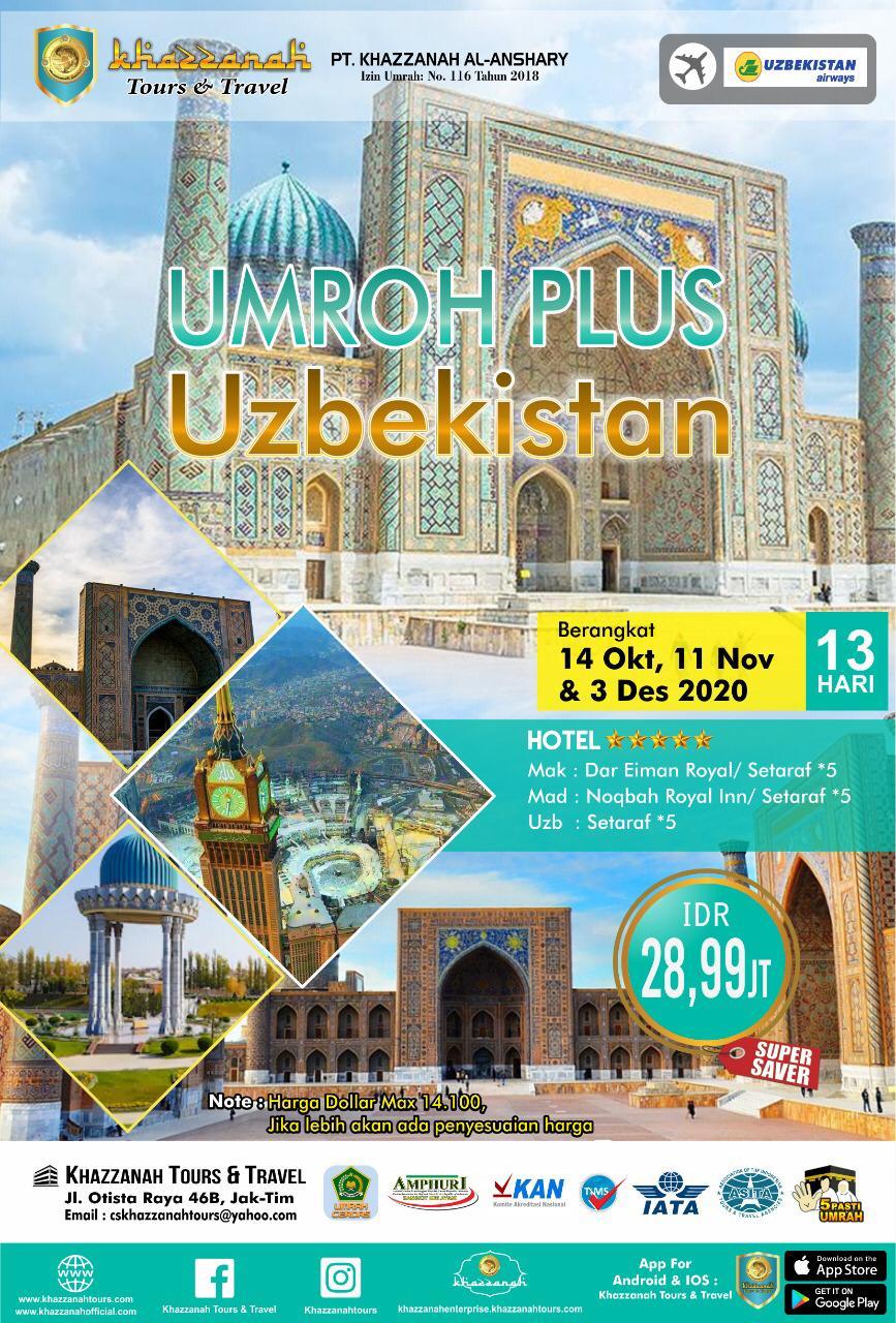 UMRAH PLUS UZBEKISTAN 13H BY UZBEKISTAN