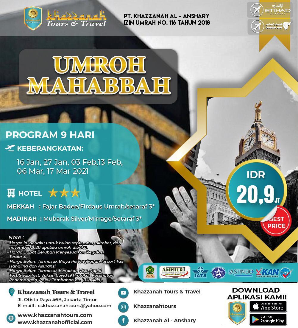 UMRAH MAHABBAH 9D BY ETIHAD