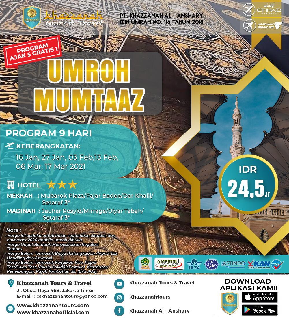 UMROH MUMTAZ 5 free 1 By EY/WY