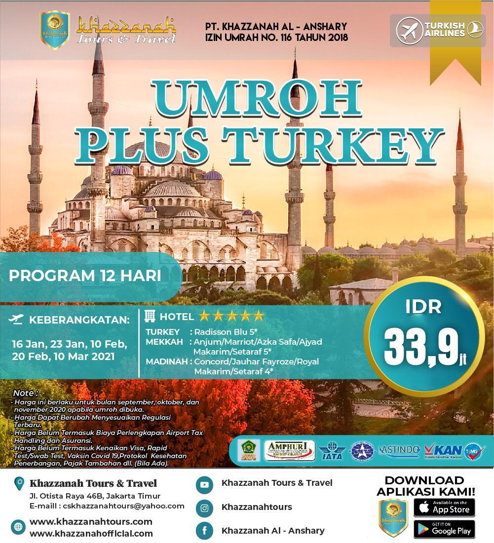 UMRAH PLUS TURKEY 12 HARI
